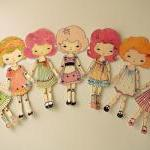 Peony - Articulated Paper Doll Prin..